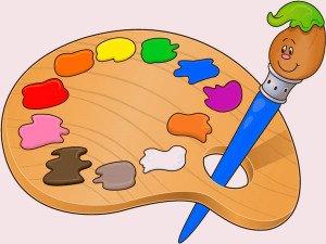pinceau palette